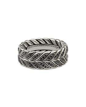 David Yurman - Chevron Band Ring with Black Diamonds