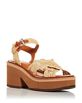 Clergerie - Women's Charlize Wedge Platform Sandals