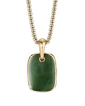 David Yurman - Tablet Amulet in 18K Yellow Gold with Nephrite Jade