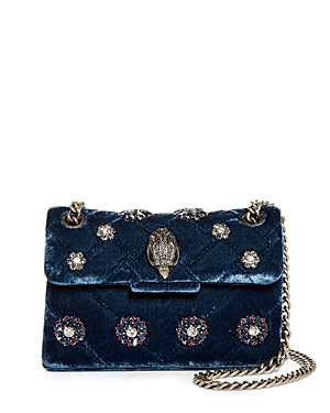 Kurt Geiger London Mini Kensington Velvet Crossbody Bag-Handbags