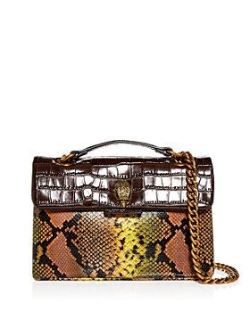 KURT GEIGER LONDON - Kensington Embossed Leather Shoulder Bag