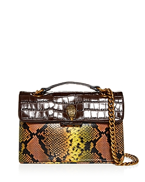 Kurt Geiger London Kensington Embossed Leather Shoulder Bag-Handbags