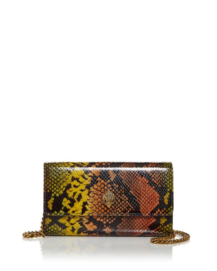 KURT GEIGER LONDON Snake Embossed Leather Chain Wallet  | Bloomingdale's