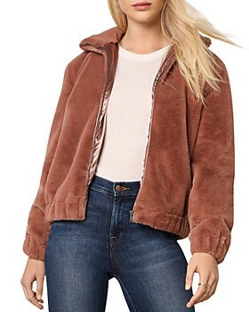 cupcakes and cashmere - Chan Faux Fur Bomber Jacket