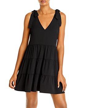 AQUA - Tiered Mini Dress - 100% Exclusive