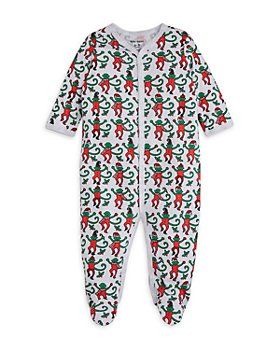 Roller Rabbit - Unisex Monkey Cotton Footie - Baby