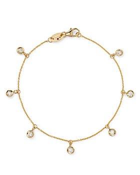 Roberto Coin - 18K Yellow Gold Diamond Seven Station Dangle Bracelet