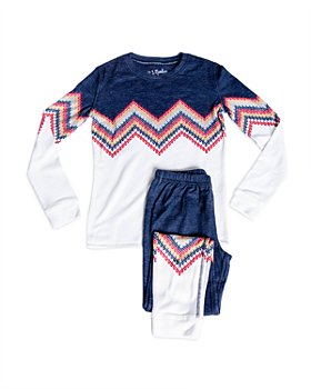 PJ Salvage - Unisex Color Blocked Pajama Set - Little Kid, Big Kid