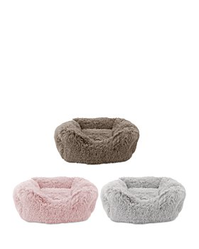 Precious Tails - Super Luxe Shaggy Faux Fur Cuddler Pet Bed