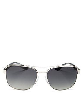 Prada - Men's Pillow Brow Bar Polarized Aviator Sunglasses, 61mm