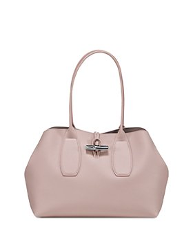 Longchamp - Roseau Medium Leather Shoulder Tote