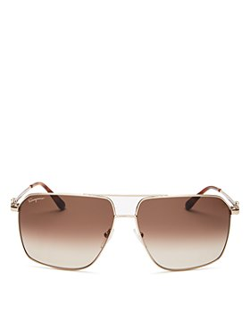Salvatore Ferragamo - Men's Brow Bar Aviator Sunglasses, 62mm