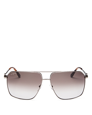 Salvatore Ferragamo Men's Brow Bar Aviator Sunglasses, 62mm