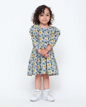 Sea - Girls' Floral Tiered Dress - Little Kid