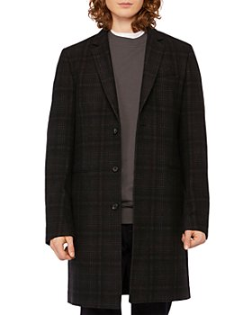 PS Paul Smith - Plaid Single-Breasted Overcoat