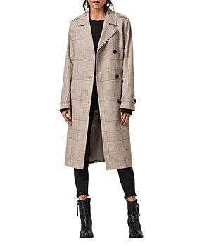 ALLSAINTS - Chiara Check Print Trench Coat