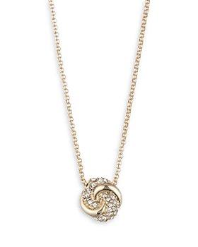 """Ralph Lauren - Pave Knot Pendant Necklace, 16"""""""