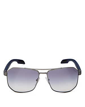 Prada Men\\\'s Brow Bar Square Sunglasses, 59mm