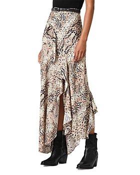 ALLSAINTS - Raya Arietta Animal Print Ruffled Skirt