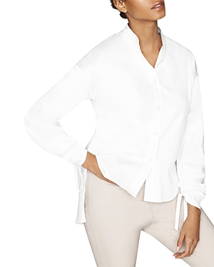 Conscious Pleat Sleeve Button Down