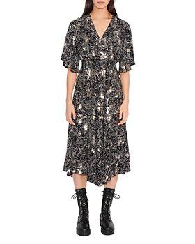 Maje - Rosabelle Sequined Polka Dot Midi Dress