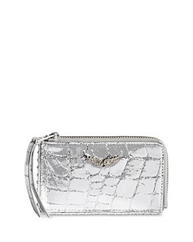 Zadig & Voltaire - Croc Leather Card Holder Pouch