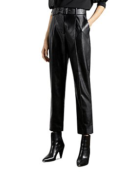 Ted Baker - Pleather Belted Trousers