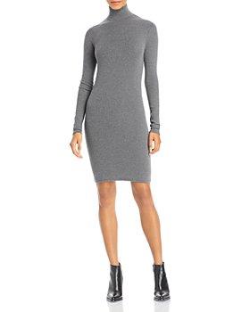 Enza Costa - Ribbed Turtleneck Dress