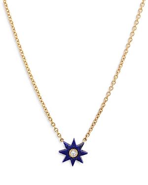 18K Yellow Gold Galaxia Gray Diamond & Lapis Twinkle Pendant Necklace