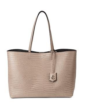 Jimmy Choo Nine2Five Large Embossed Leather Tote-Handbags