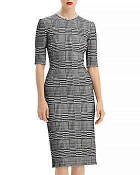 Oscar de la Renta - Houndstooth Sheath Dress