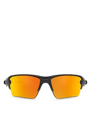 Oakley Men\\\'s Flak 2.0 Polarized Rectangular Sunglasses, 59mm-Jewelry & Accessories