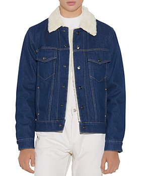 Sandro - Faux Shearling Denim Jacket