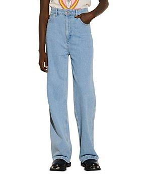 Sandro - Jordy Wide Leg Jeans in Blue Jeans