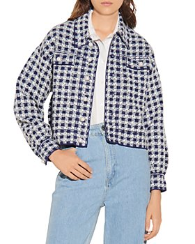 Sandro - Jayce Checkered Tweed Jacket