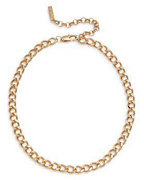 "Luv Aj - Soho Chain Link Collar Necklace, 15"""