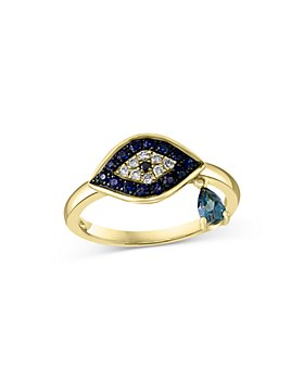 Bloomingdale's - Multi Gemstone & Diamond Evil Eye Ring in 14K Yellow Gold - 100% Exclusive