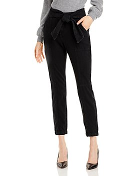 Jonathan Simkhai - Bower Tie Waist Denim Cargo Pants in Noir