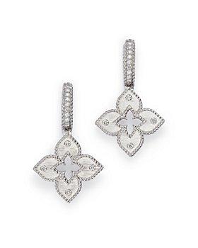 Roberto Coin - 18K White Gold Diamond Venetian Princess Drop Earrings