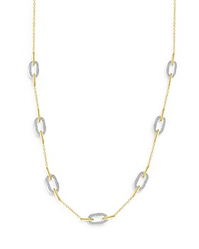 Bloomingdale's - Diamond Paperclip Link Necklace in 14K Yellow and White Gold, 1.0 ct. t.w. - 100% Exclusive