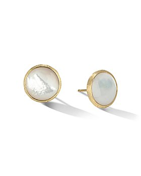 Marco Bicego - 18K Yellow Gold Jaipur Color Mother of Pearl Large Stud Earrings