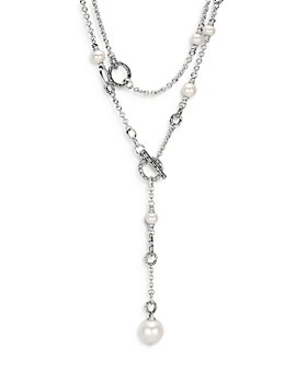 JOHN HARDY - Sterling Silver Classic Chain Freshwater Pearl Sautoir Necklace, 72""