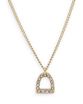 """Ralph Lauren - Stirrup Pendant Necklace, 16"""""""