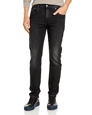 7 For All Mankind Adrien Slim Tapered Fit Jeans in Washed Black