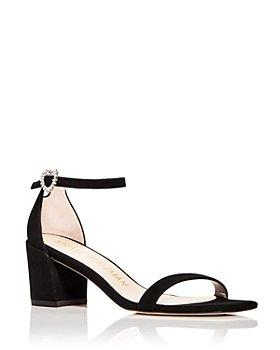 Stuart Weitzman - Women's Simple Heart Block Heel Sandals