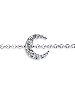 18K White Gold Galaxia Diamond Mini Moon Bracelet