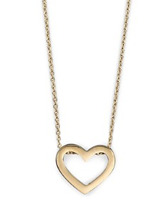 "Roberto Coin - Roberto Coin 18 Kt. Yellow Gold ""Tiny Treasure"" Heart Necklace, 18"""