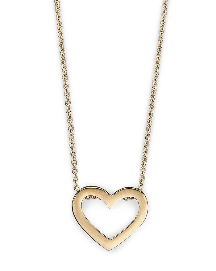 "Roberto Coin - Roberto Coin 18 Kt. Yellow Gold ""Tiny Treasure"" Heart Necklace, 18"""