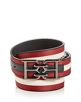 Bally - Men's Mirror B Buckle Webbing Stripe Belt