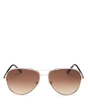 Tom Ford - Unisex Clark Brow Bar Aviator Sunglasses, 59mm